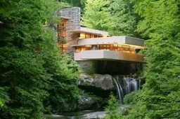 Frank Lloyd Wright's Fallingwater Minecraft Map & Project