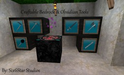 Craftable Bedrock & Obsidian Tools Minecraft Mod