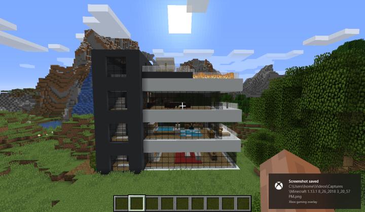 Modern house (village near) Minecraft Project