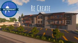 Real Life Hotel/Plaza In Minecraft + Video - Blueprint Server Minecraft Map & Project