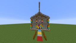 Rainbow House [Creating The New Rainbow Steve House] Minecraft Map & Project