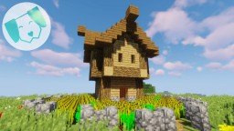Tiny Compact Starter House **With Tutorial!** Minecraft Map & Project
