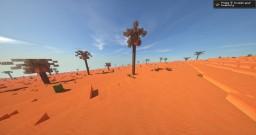 4k x 4k Custom terrain - Red desert Minecraft Map & Project