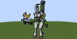 Bastion (Girl Version) (Overwatch) (Pixel Art) Minecraft Map & Project