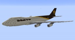 F'n'A Gaming Boeing 747-8F UPS Minecraft Map & Project