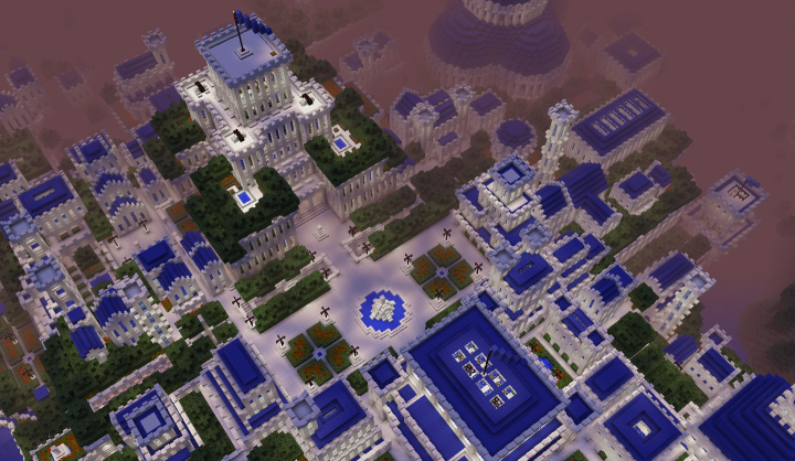 The main square in the city of Hrad. Marked number 1 on the map 3rd picture.