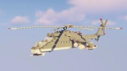 "Mil Mi-24 ""Hind"" (Remake) Minecraft Map & Project"