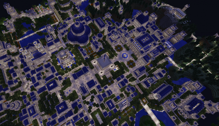 The biggest city Hrad from above. Marked number 1 on the map.