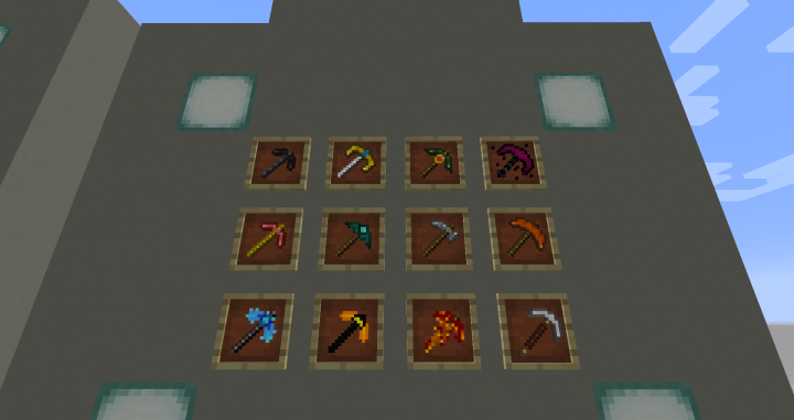 All pickaxes