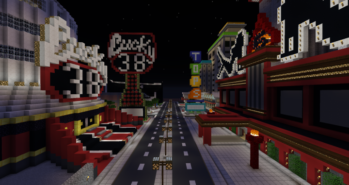 Fallout New Vegas Strip Minecraft Project