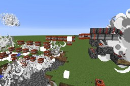 Ultimate Rapid-Fire TNT Cannon Minecraft Map & Project