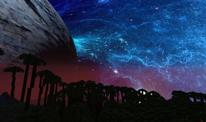 Popular Texture Pack : Blue Nebula Planetoid - Night Sky Texture Pack