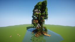 Giant tree house !! Minecraft Map & Project