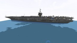CVN-65 USS Enterprise 1.5:1 scale Minecraft Map & Project
