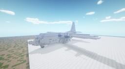Minecraft 2:1 scale Lockheed C-130 Hercules Minecraft Map & Project