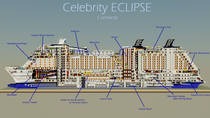 Celebrity ECLIPSE Cutaway