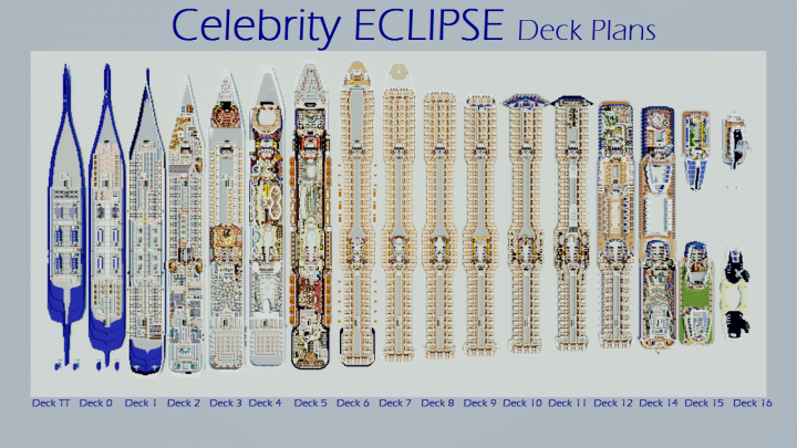 Celebrity ECLIPSE Deck Plans