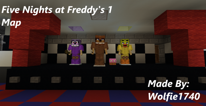Five Nights at Freddy's Map 1 12 2 Minecraft Project