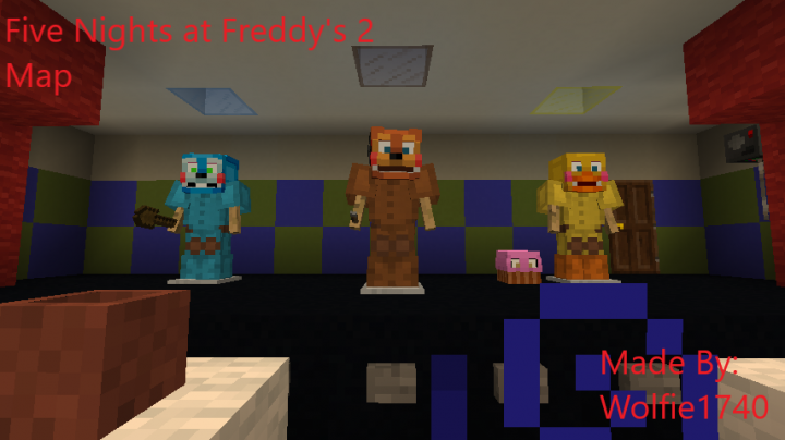 Five Nights at Freddy's 2 Map 1 12 2 Minecraft Project