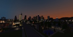 Is night in Los Angeles Minecraft Map & Project
