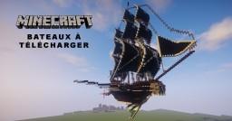 Minecraft Build Bateau Pirate Volent à télécharger Minecraft Map & Project
