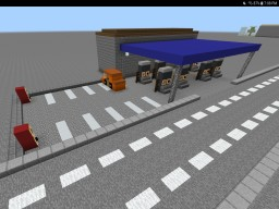 A Gas station in my city Minecraft