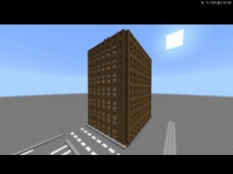 New style building starting another half to my city Minecraft Map & Project
