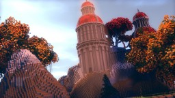Red Temple Structure + Fantasy Tree's ( +Schematic ) Minecraft Map & Project