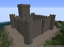 Replica Minecraft of Villalonso Castle, Zamora, Spain. Minecraft Map & Project