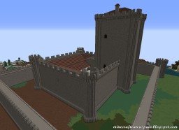Replica Minecraft of the Castle of Villafuerte de Esgueva, Valladolid, Spain. Minecraft Map & Project