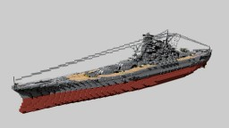 Japanese Battleship Yamato 1:1 Minecraft Map & Project