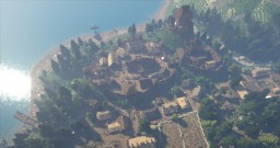 Medieval Scandinavian Settlements w/ Motte & Bailey Castle [Conquest Reforged] Minecraft Map & Project