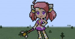 Lux star guardian (League of Legends) (Pixel Art) Minecraft Map & Project