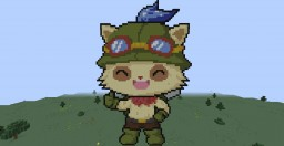 Teemo (League of Legends) (Pixel Art) Minecraft Map & Project