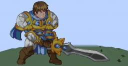 Garen (League of Legends) (Pixel Art) Minecraft Map & Project