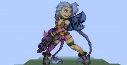 Jinx (League of Legends) (Pixel Art) Minecraft Map & Project