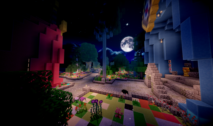 Weapon and Armor Shop at night. Moon is included with the Three Ring Eden Resource Pack!