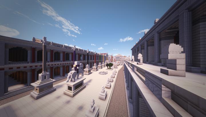 From the corner of the Basilcia Aemilia. facing the Triumphal columns