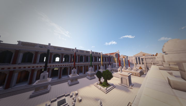 Another view of the center of the Forum