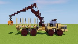 Caterpillar Wood Forwarder Minecraft Map & Project