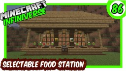"""Selectable Food Station"" [86] Minecraft Bedrock Infiniverse Minecraft Map & Project"