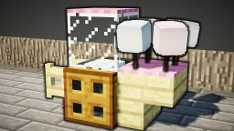 Minecraft - How To Make A Cotton Candy Stand Minecraft Map & Project