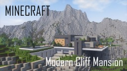 Modern Cliff Mansion (full interior) Minecraft