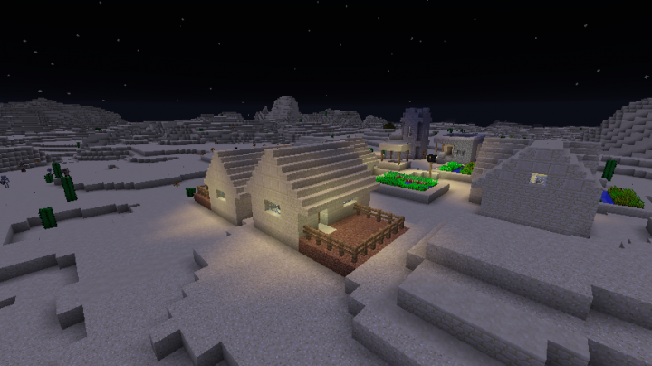 Ahh. . . .the village at night is so peaceful. . . .until the zombies attack