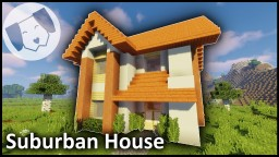 EASY modern suburban house (w/Tutorial) Minecraft Map & Project