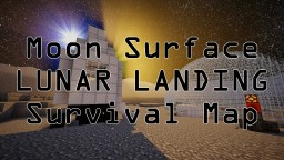 Moon Surface LUNAR LANDING Survival Map! 1.12.2 and 1.13.1! Minecraft Map & Project