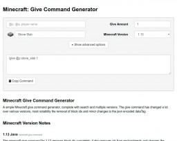 Give Command Generator 1.13 (and 1.12) Minecraft Mod