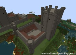 Replica Minecraft of the Castle of the Comuneros of Torrelobatón, Valladolid, Spain. Minecraft Map & Project