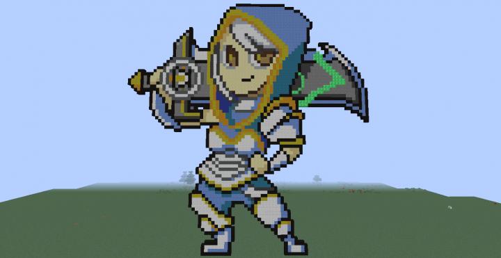 Redeemed Riven (League of Legends) (Pixel Art) Minecraft Project