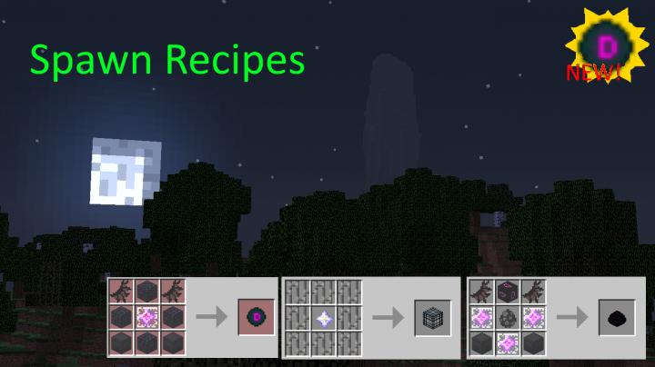 Popular Mod : Spawn Recipes datapack